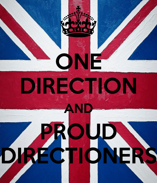 ONE DIRECTION AND PROUD DIRECTIONERS