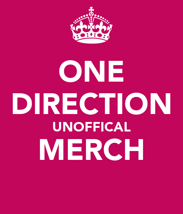 ONE DIRECTION UNOFFICAL MERCH