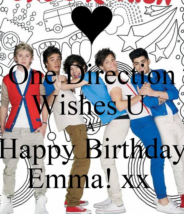 One Direction Wishes U  A  Happy Birthday Emma! xx