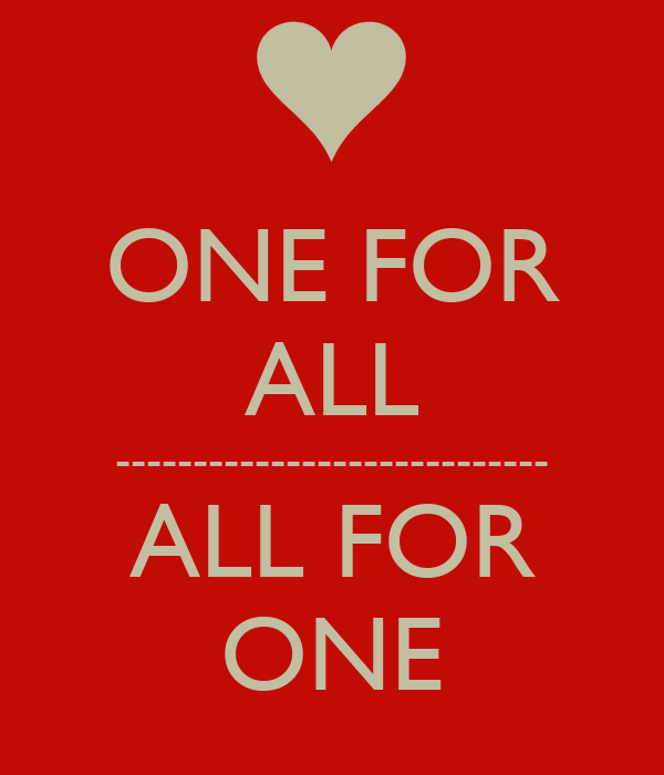 ONE FOR ALL ------------------...