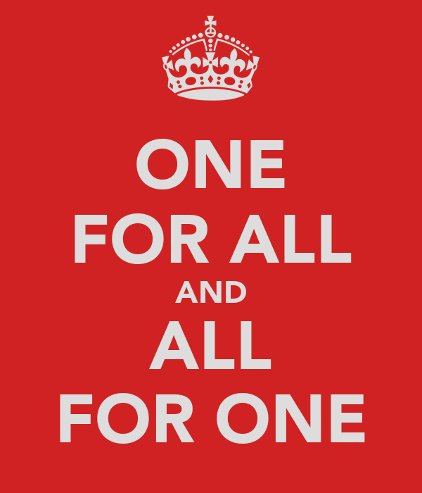 one for all and all for one poster dogtanian keep calm o matic. Black Bedroom Furniture Sets. Home Design Ideas