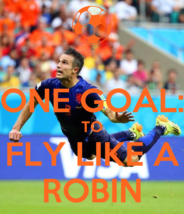 ONE GOAL: TO FLY LIKE A ROBIN