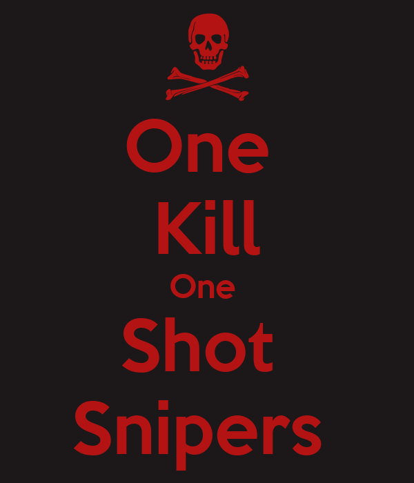 One  Kill One  Shot  Snipers