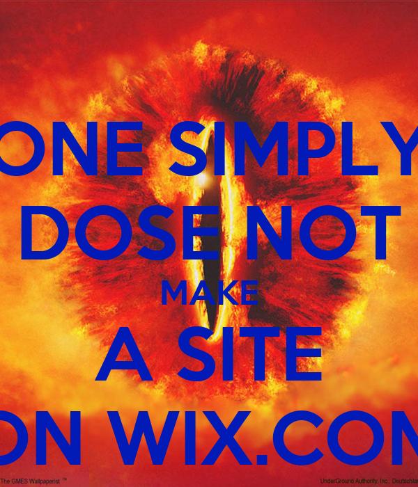 ONE SIMPLY DOSE NOT MAKE A SITE ON WIX.COM
