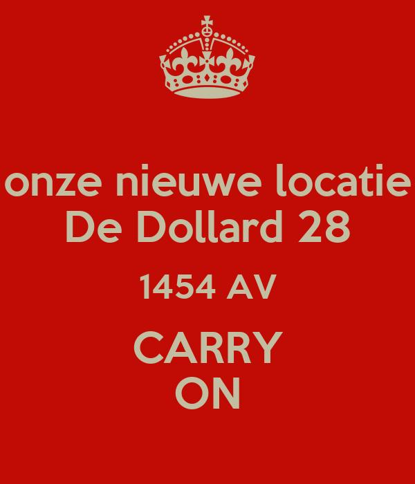 onze nieuwe locatie De Dollard 28 1454 AV CARRY ON