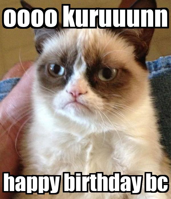 oooo kuruuunn happy birthday bc