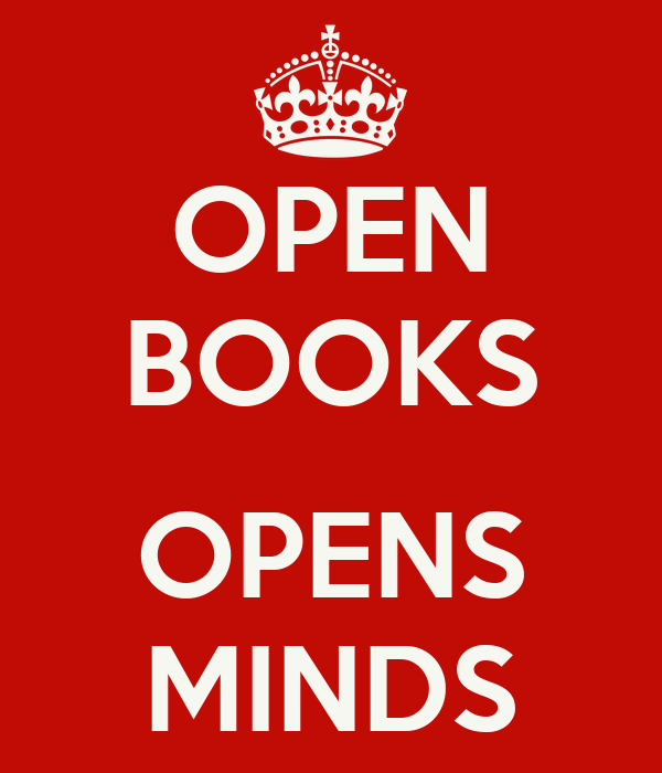 OPEN BOOKS  OPENS MINDS
