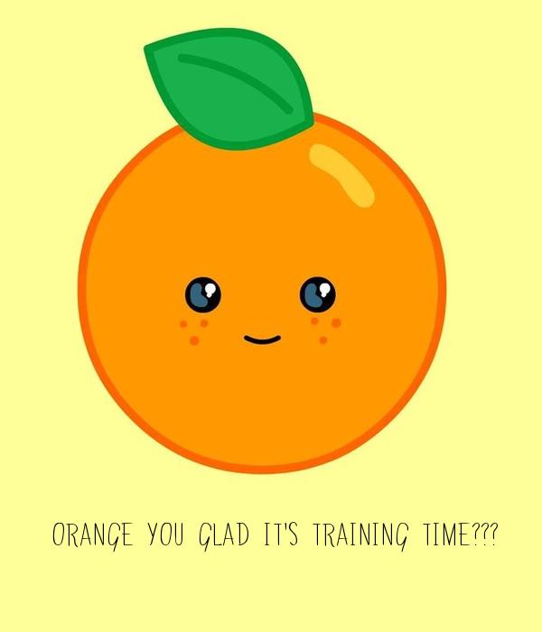 Orange you glad it's training time???