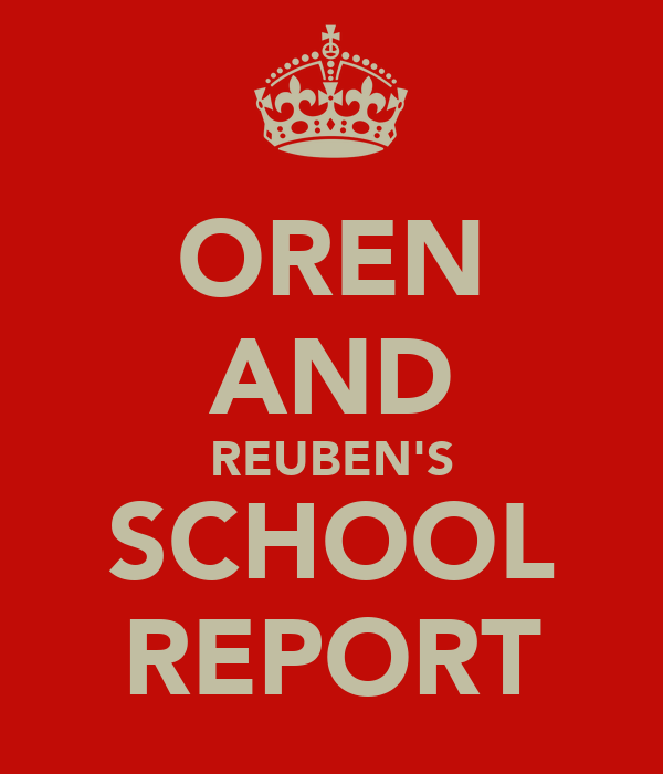 OREN AND REUBEN'S SCHOOL REPORT