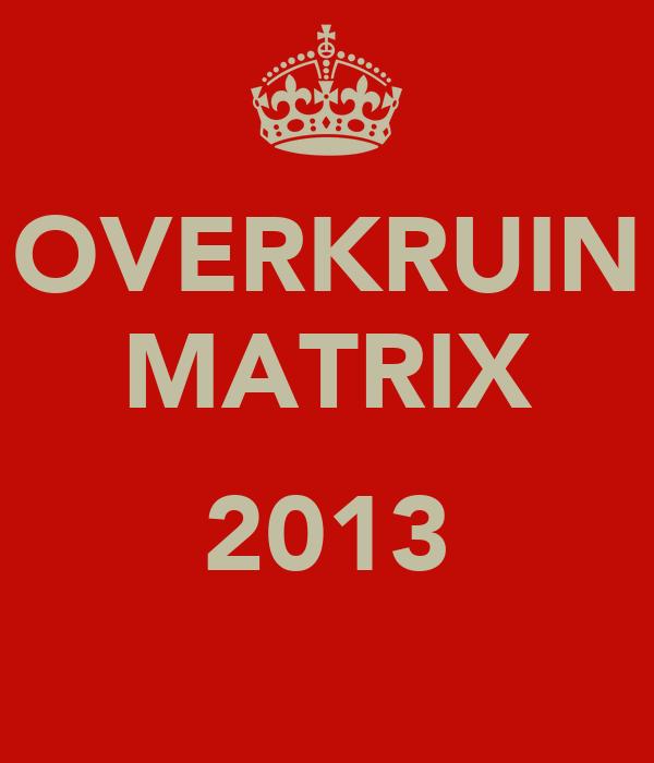 OVERKRUIN MATRIX  2013