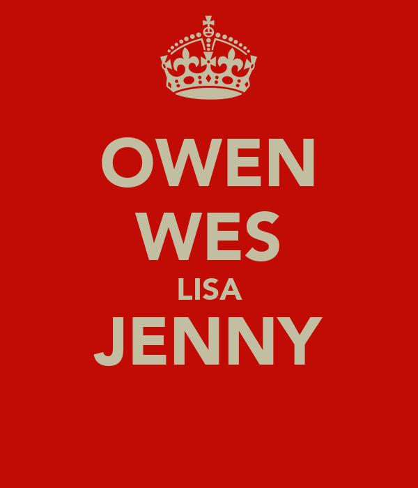 OWEN WES LISA JENNY