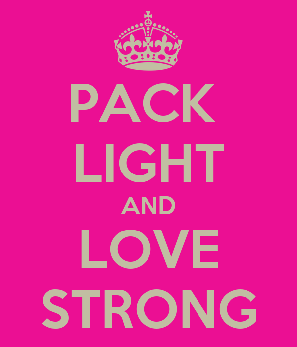 PACK  LIGHT AND LOVE STRONG