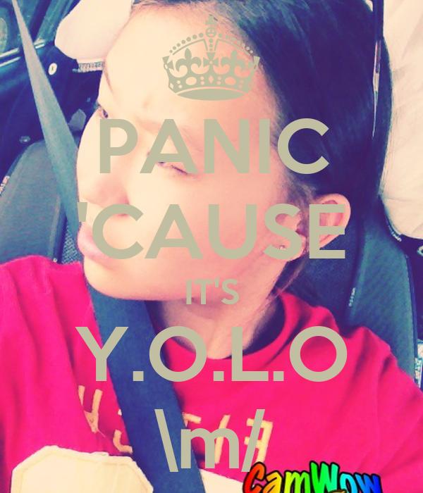 PANIC 'CAUSE IT'S Y.O.L.O \m/