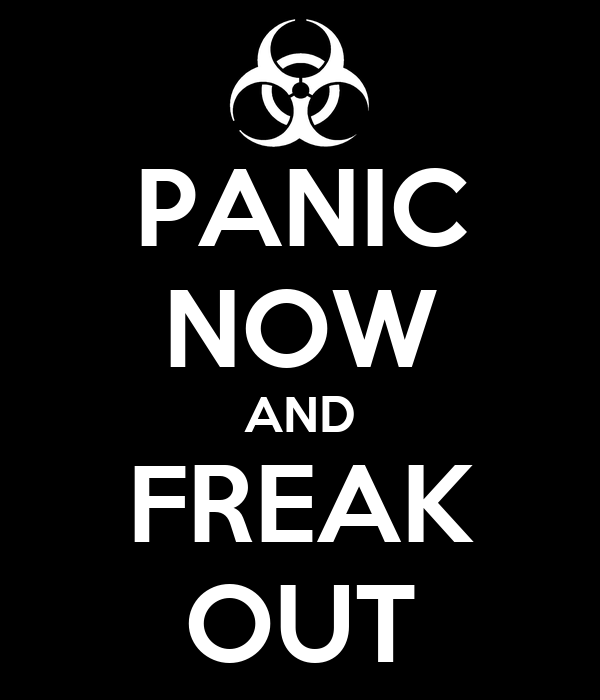 PANIC NOW AND FREAK OUT