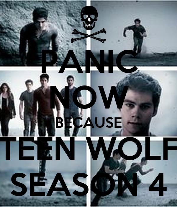 PANIC NOW BECAUSE TEEN WOLF SEASON 4 Poster | teen ...