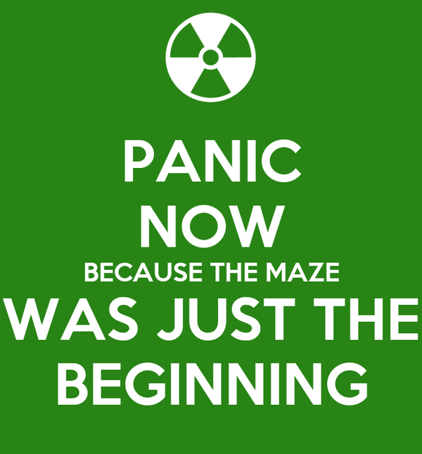 PANIC NOW BECAUSE THE MAZE WAS JUST THE BEGINNING