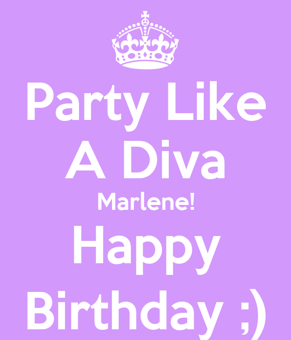 Party Like A Diva Marlene Happy Birthday Poster Irma