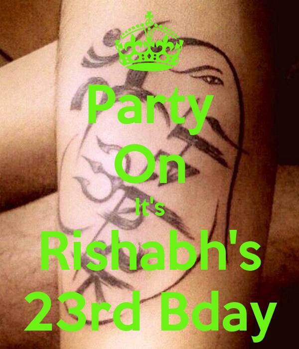 Party On It's Rishabh's 23rd Bday