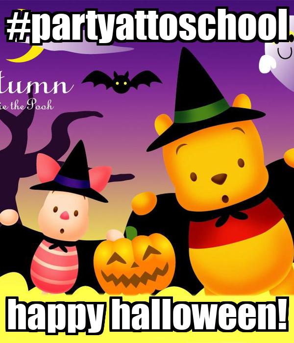 #partyattoschool happy halloween!
