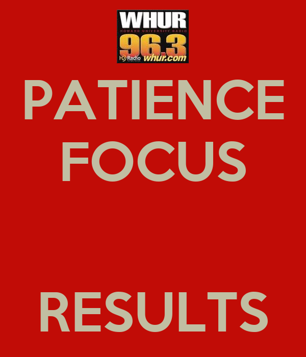 PATIENCE FOCUS   RESULTS