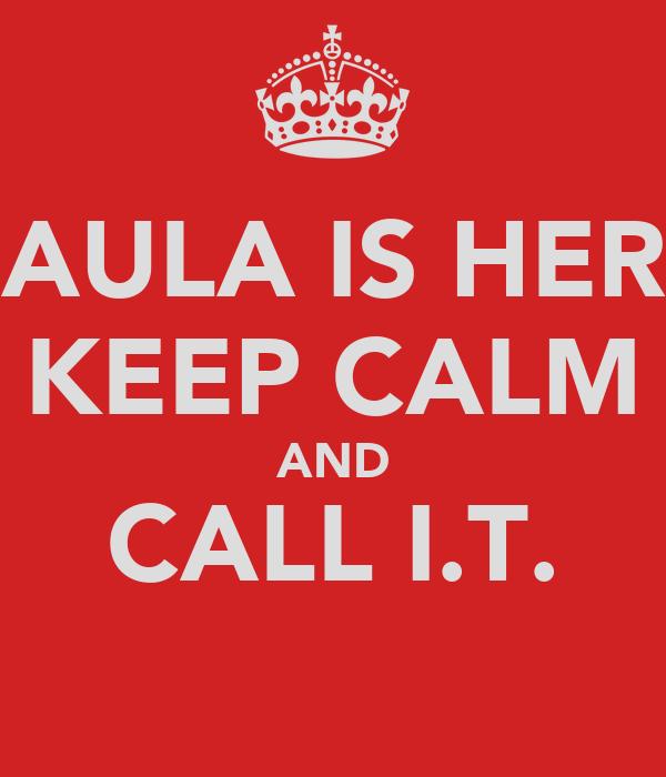 PAULA IS HERE KEEP CALM AND CALL I.T.