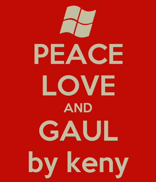 PEACE LOVE AND GAUL by keny