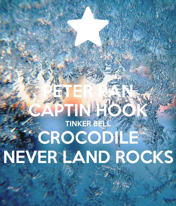 PETER PAN CAPTIN HOOK TINKER BELL CROCODILE NEVER LAND ROCKS