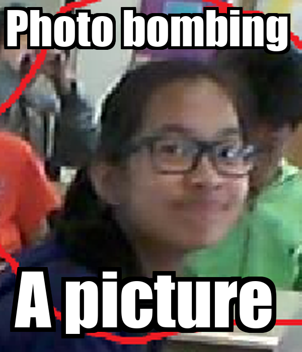 Photo bombing  A picture