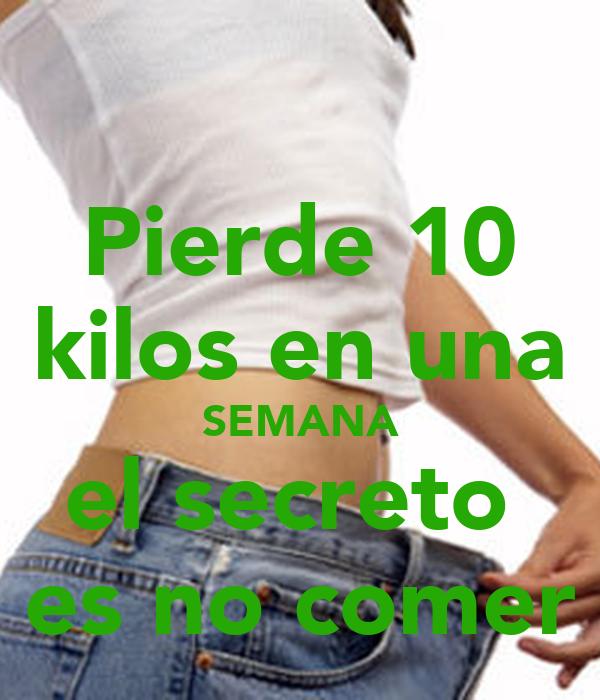 Pierde 10 kilos en una SEMANA el secreto  es no comer