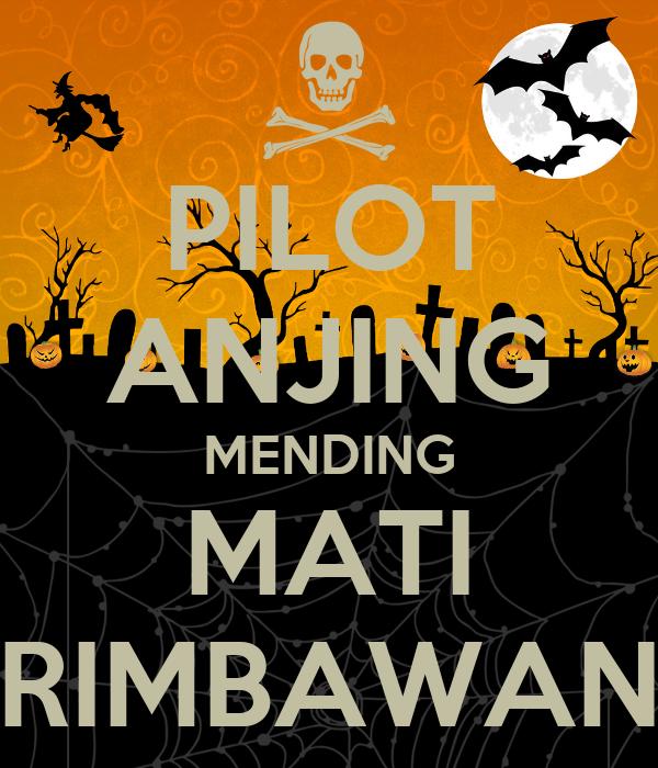 PILOT ANJING MENDING MATI RIMBAWAN