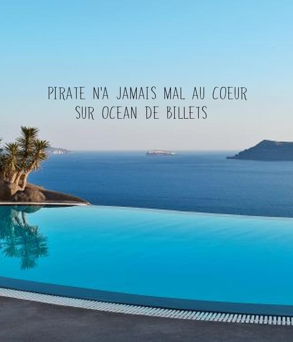 pirate n 39 a jamais mal au coeur sur ocean de billets poster alex keep calm o matic. Black Bedroom Furniture Sets. Home Design Ideas
