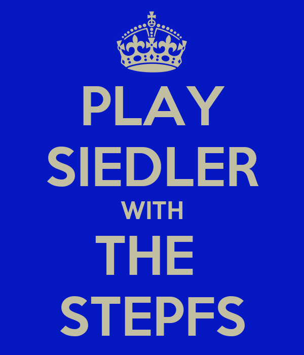 PLAY SIEDLER WITH THE  STEPFS
