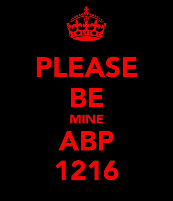 PLEASE BE MINE ABP 1216