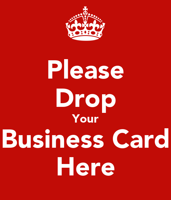 please drop your business card here poster temasek polytechnic