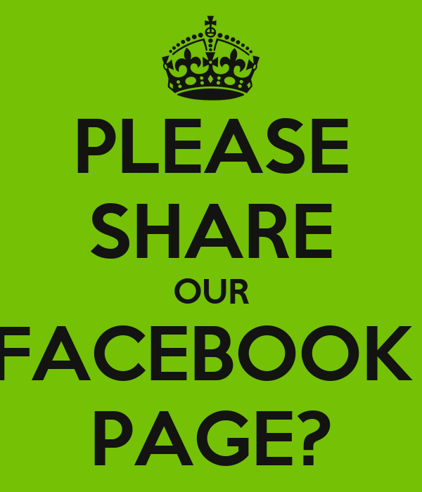 PLEASE SHARE OUR FACEBOOK PAGE? Poster   Laurie   Keep ...