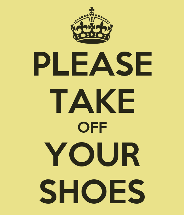 Take Shoes Off Sign For Sale
