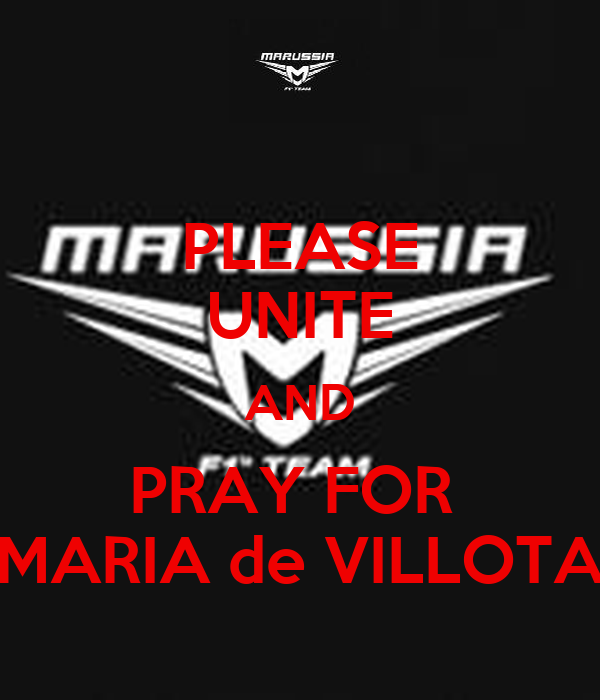 PLEASE UNITE AND PRAY FOR  MARIA de VILLOTA