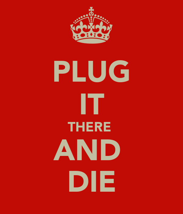 PLUG IT THERE  AND  DIE