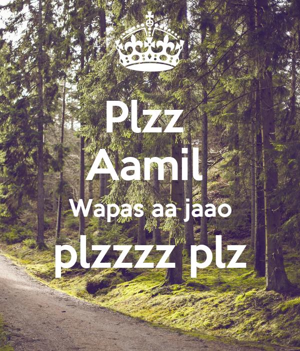 Plzz  Aamil  Wapas aa jaao plzzzz plz