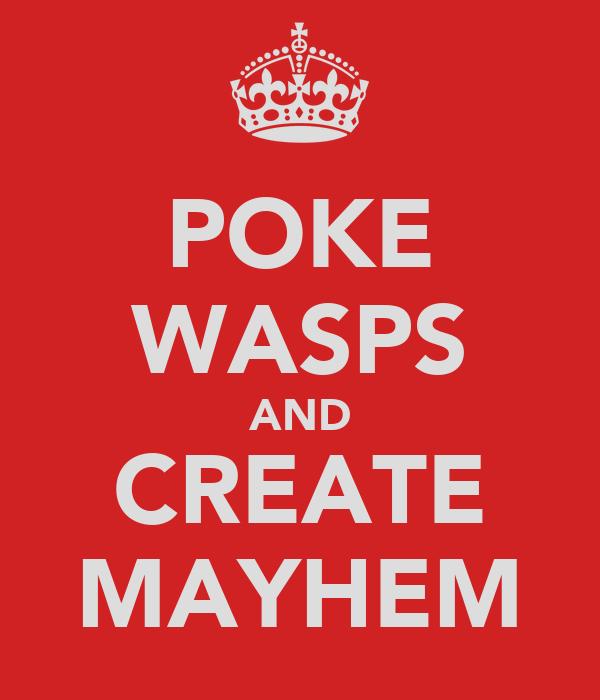 POKE WASPS AND CREATE MAYHEM