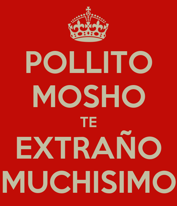 POLLITO MOSHO TE EXTRAÑO MUCHISIMO