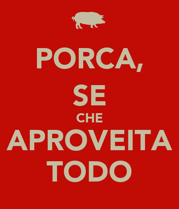 PORCA, SE CHE APROVEITA TODO