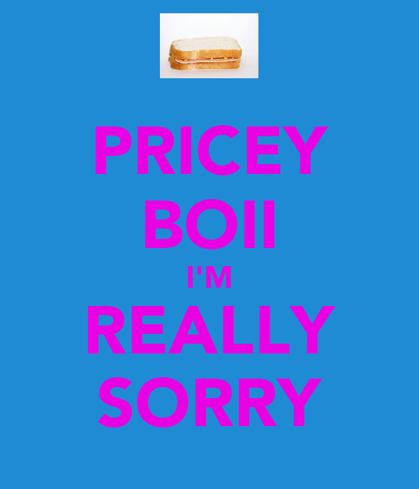 PRICEY BOII I'M REALLY SORRY