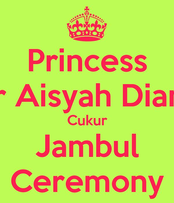 Princess Nur Aisyah Diana's Cukur Jambul Ceremony