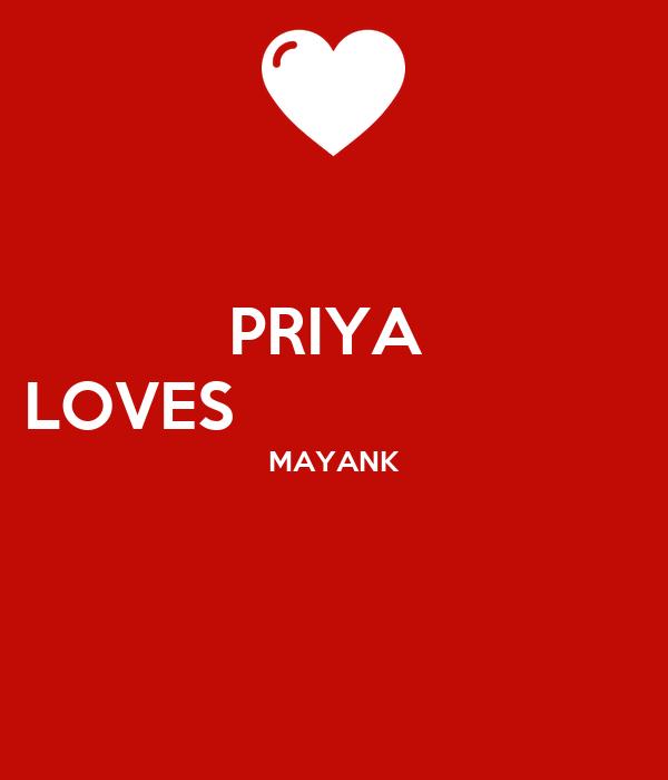 PRIYA  LOVES                        MAYANK