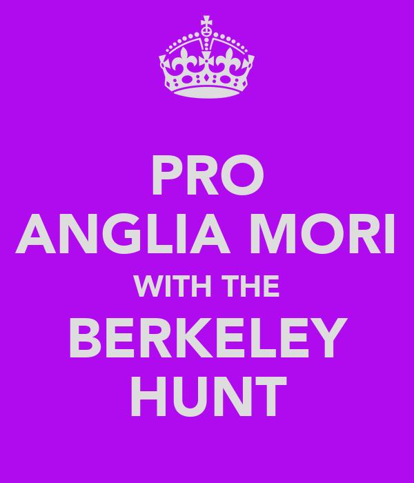 PRO ANGLIA MORI WITH THE BERKELEY HUNT