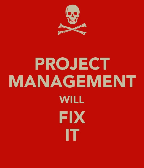 PROJECT MANAGEMENT WILL FIX IT