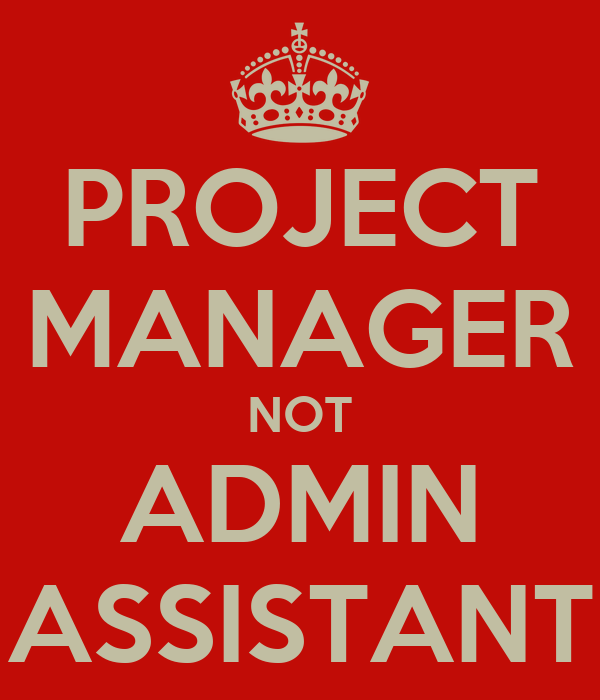 PROJECT MANAGER NOT ADMIN ASSISTANT
