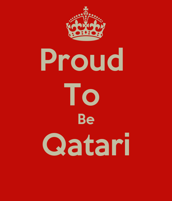 Proud  To  Be Qatari