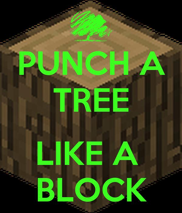 PUNCH A TREE  LIKE A  BLOCK